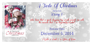 Author Krissy V A Taste of Christmas Release Banner