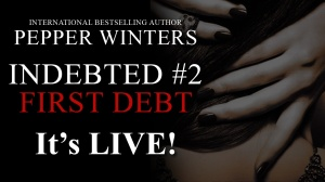 Author Pepper Winters first debt live