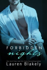 Author lauren blakely forbidden nights cover
