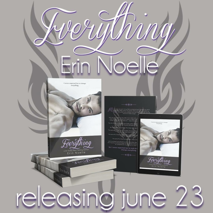 Author Erin Noelle everything teaser 6.20.16