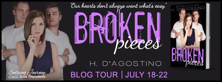 Author H D'Agostino Broken Pieces Tour Banner 7.19.16