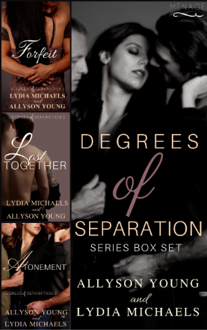 Authors Lydia Michaels & Allyson Young Degrees of Separation Series Box Set 4.3.17