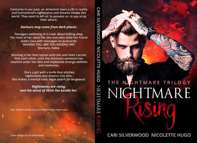 Authors Cari Silverwood and Nicolette Hugo Full cover Nightmare Rising 9.13.17