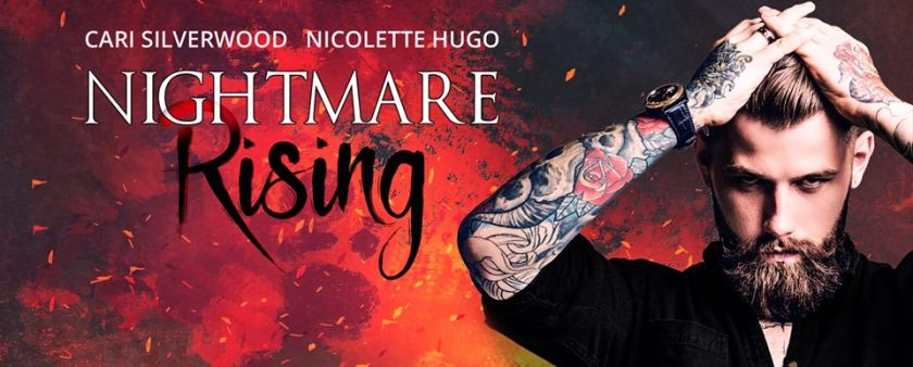 Authors Cari Silverwood and Nicolette Hugo Nightmare Rising Banner 9.13.17