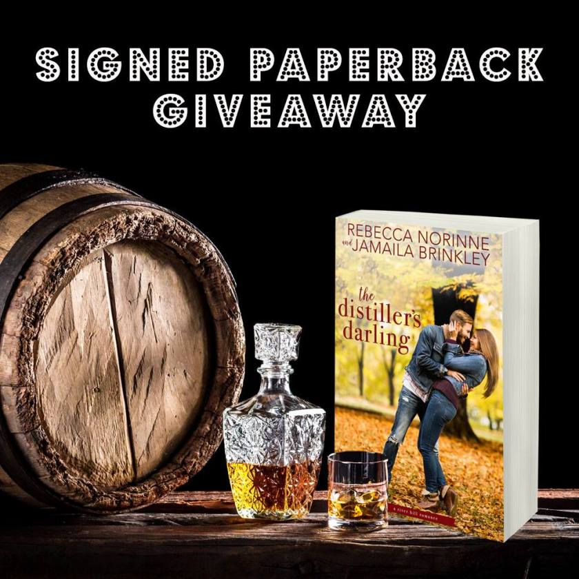 Authors Rebecca Norinne and Jamaila Brinkley The Distiller's Darling giveaway teaser 6.18.18